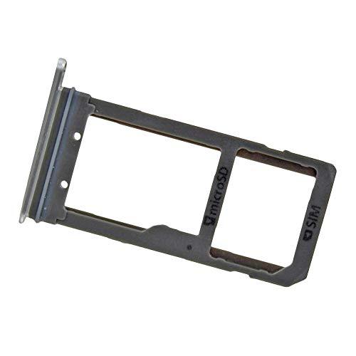 Repuesto Original, Bandeja Tarjeta SIM y SD para Samsung Galaxy S7 Edge (SM-G935F), Blanco Plateado