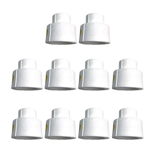 Gazechimp 10 Stück PPR Reduzierstück Gerades Verbindungsstück passend für Wasserrohr Handbrause Duschschlauch usw. - 32 mm bis 20 mm