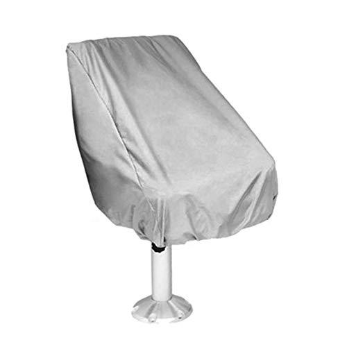 Kitabetty Bootssitzbezug, wasserdichter Polyester-Faltponton-Kapitän im Freien, Sitzbezug für Bootsstühle, sonnensicher, regensicher und staubdicht, 61×56×64 cm