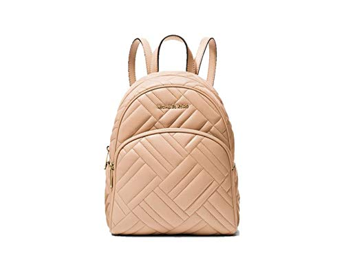 Michael Kors Abbey Medium Quilted Leather Backpack - Oyster