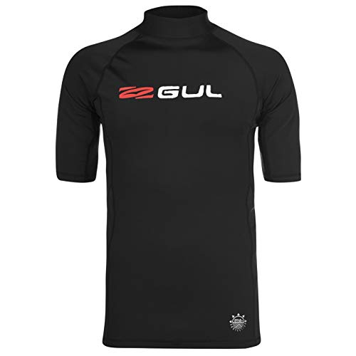 GUL Camiseta de entrenamiento para hombre, cuello alto Negro  XL