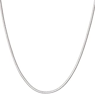 925 Sterling Silver Italian 1mm,1.2mm Snake Chain Crafted Necklace Thin Lightweight Strong - Lobster Claw Clasp With Extra Clasp