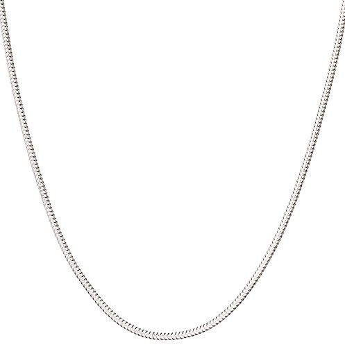 925 Sterling Silver Italian 1mm Magic Snake Chain Crafted Necklace Thin Lightweight Strong - Lobster Claw Clasp With Extra Clasp (sterling-silver, 30 Inches)