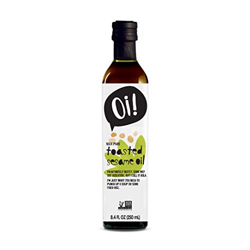 Oi! Toasted Sesame Oil 8.4 oz, Non-GMO, Gluten Free for Cooking, Baking and Grilling Asian Inspired Dishes