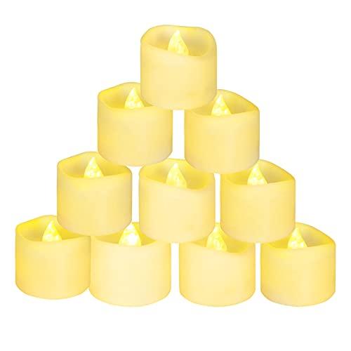 flintronic 12 Velas Led Pequeñas, Velas Led de Té Velas Eléctricas con Baterías para San Valentín,Halloween, Cumpleaños, Fiestas, Navidad, Festivales,Blanco Cálido [Clase de eficiencia energética A]