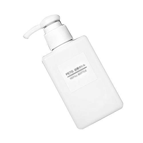 AIUIN 1Pcs dispensadores de desinfección Dispensador de jabón rellenable, cantidad de llenado de 100 ml, dispensador de jabón de Bomba dispensador de loción de plástico (Blanco)