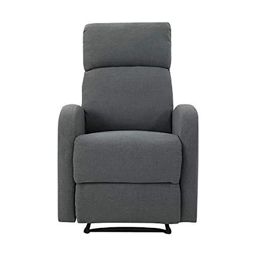 Sala de Estar Silla Sillón reclinable, habitación Individual sofá Silla sillas reclinables Ajustable para tapizar Inicio Cine TV,Dark Gray