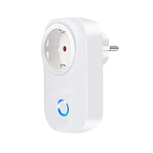Presa intelligente WLAN, spina intelligente, compatibile con Alexa Echo/Google Home, controllo a distanza, funzione timer, nessun hub, supporta 2,4 GHz, 10 A (1 confezione)