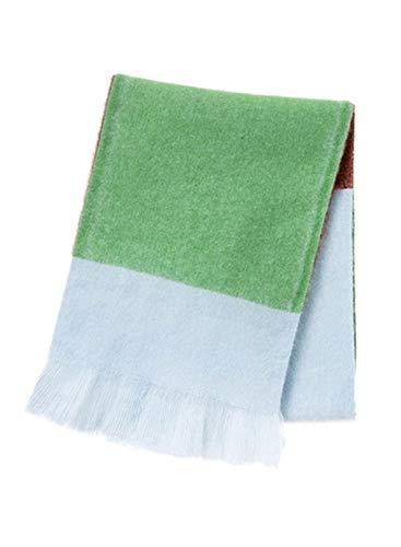 LOSRLY Damen-Schal, modisch, lang, groß, kariert, Winter, warm, Gittermuster Gr. One size, grün
