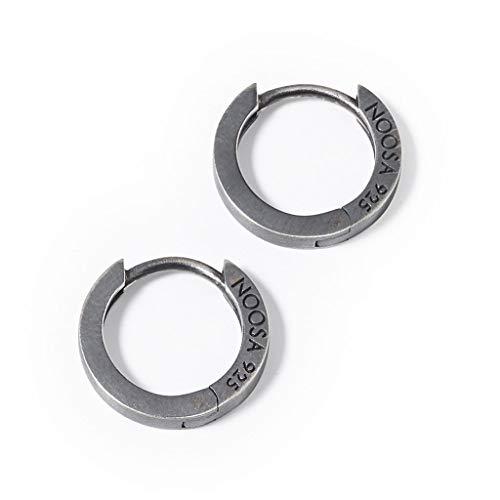 Noosa RELIC Ohrringe CREOLE CLASSIC oxidized silver - ohne Relic