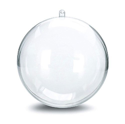 Naice 100mm DIY Round Bath Bomb Mold Plastic Balls, Clear (12-Pack)