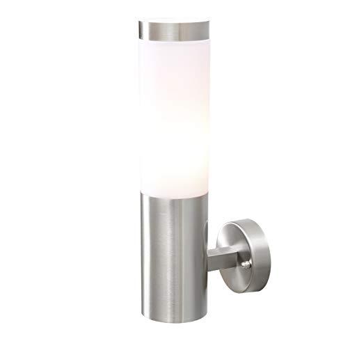 MW-Light 809020401 Lámpara de Pared, Aplique de Pared, Estilo Moderno, Estructura de Metal Cromado, Plafón de Acrilico, Para Jardin, Iluminacion Exterior Ip44 E27 1X40 W 230 V ⭐
