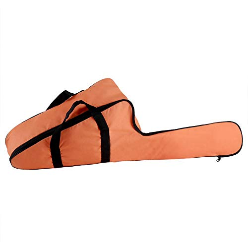 Bolsa de transporte de motosierra, estuche de bolsa de transporte de motosierra Oxford naranja portátil Soporte de bolsas de almacenamiento protector con diseño de cremallera larga para silvicultura