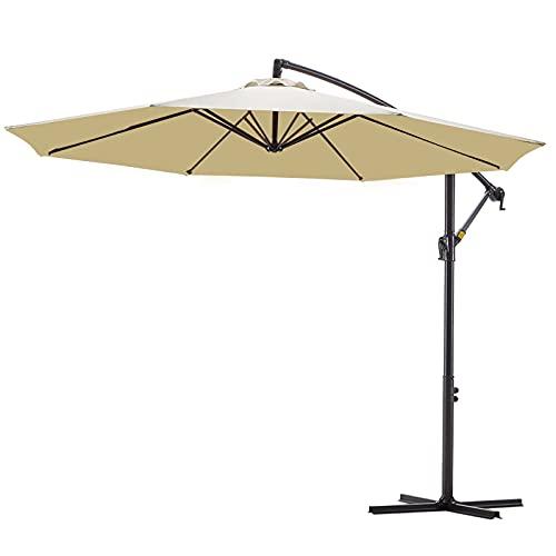 VINEY BOUTIQUE Patio Offset Hanging Umbrella 10 ft....