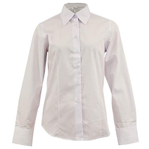MISEMIYA - Camisa Uniforme Camarera SEÑORA con Mangas LARGAS MESERO DEPENDIENTA Barman COCTELERA PROMOTRORAS OFICCE Lady Blusa - Ref.826 - S, Blanco