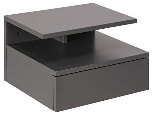 AC Design Furniture Jana Amalie Bedside Table, Holz, grau, 22,5 x 35 x 32 cm
