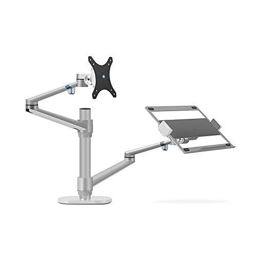 Laptop stand monitor desktop combinatie plank dual-screen desktop top lifting verhoging beugel geschikt voor monitoren binnen 12-17 inch en 32 inch