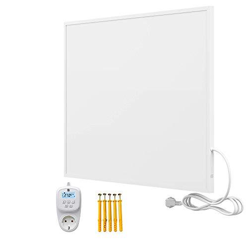 Bringer Infrarotheizung Infrarot Wandheizung Heizung Heizkörper Thermostat (450 Watt, Heizplatte mit WIFI Thermostat (BRTW))