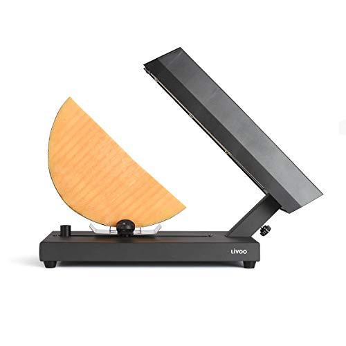 Livoo - Aparato de raclette tradicional para cuarto de rueda. Base deslizante y giratoria de queso. 400 vatios. DOC231 Negro