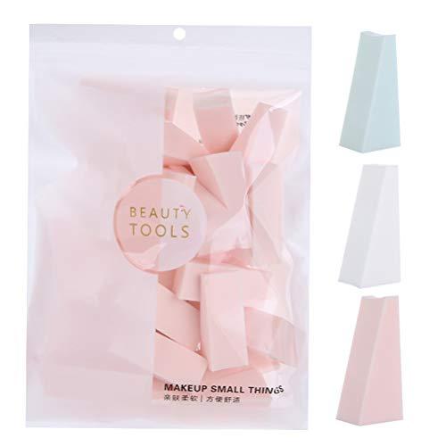 Minkissy 30 PCS Maquillage Éponges Humide et Sec Utiliser Poudre Puffs Cosmétique Outils pour BB Crème Fond de Teint Liquide Maquillage (Couleur Aléatoire)