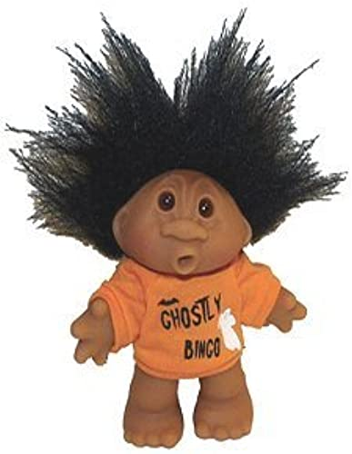 Ghostly Halloween Bingo Troll Doll Awesome schwarz Hair 5  by Norfin   Thomas Dan
