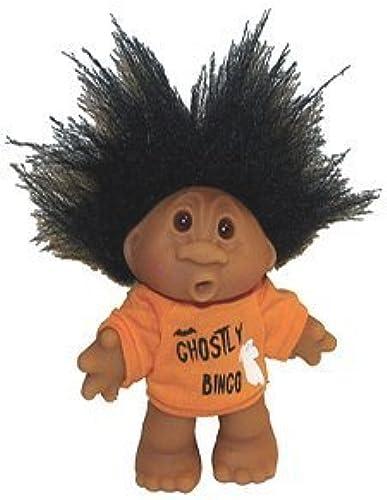 Ghostly Halloween Bingo Troll Doll Awesome schwarz Hair 5  by Norfin   Thomas Dan