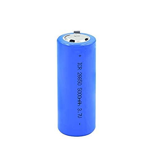 Baterías para El Hogar Batería Recargable Batería Li Ion Icr 26650 Protegida por PTC 3.7V 5000Mah Batería De Litio para Luz Led Walkie Talkies Cells-2Pieces