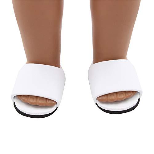 Uteruik Zapatillas de muñeca para muñeca de 46 cm, accesorio de disfraz de muñeca americana (#G)