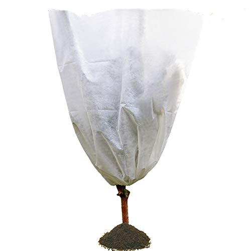 JYCRA - Funda para Plantas (Forro Polar, con cordón para Flores, arbustos, árboles y setos de jardín)