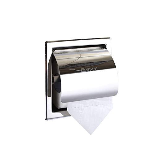 ZYJ Papierhandtuchhalter, Toilettenpapierspender Bad Papierhandtuchhalter 304 Edelstahl Toilettenpapierhalter Tissue Box