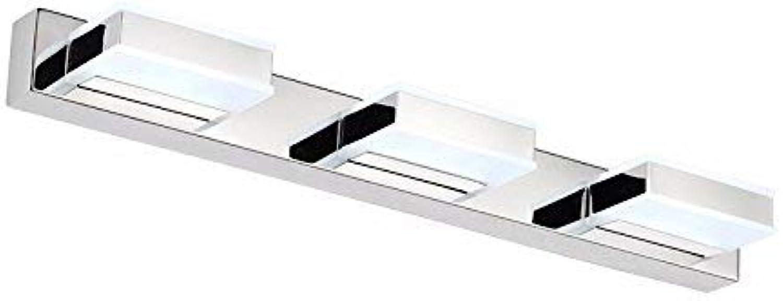 YHEGV Moderne minimalistische led acryl, Edelstahl Spiegel, Scheinwerfer, Schlafzimmer, kommode, Badezimmer, badezimmerspiegel licht, wei 50  5  9Cn