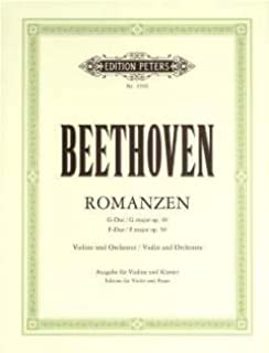 ROMANZEN OP 40 + 50 - gearrangeerd voor viool - piano [Noten/Sheetmusic] Componist : BEETHOVEN LUDWIG VAN