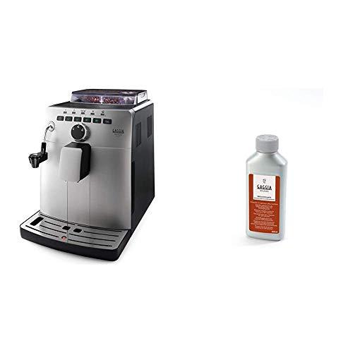 Gaggia HD8749/11 Naviglio Deluxe, Macchina per Caffè, 15 bar, Argento + RI9111/60 21001681 Soluzione Decalcificante, 250 ml