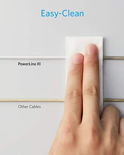 Anker USB C Kabel,Powerline III USB-C auf USB-C Ladekabel,180cm langes blitzschnelles Ladekabel mit 60W Power Delivery PD für MacBook,iPad Pro 2020, Galaxy S10 Plus S9 S8 Plus,Pixel,usw.
