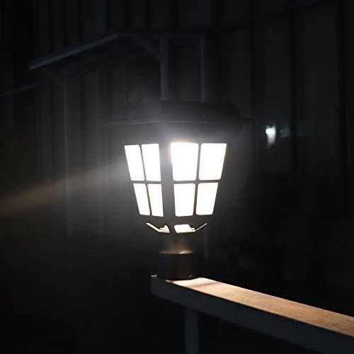 Kemeco ST4310Q-A Post Solar Light Bright 150 Lumens Warm White LED Outdoor Cast Aluminum Cap Patio Lighting for Pillar Pole Pathway Driveway Garden Landscape Yard