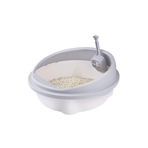 XU Tao DOY DOY Aseo Gato Caja de Arena Bandeja Bandeja Teddy Splash-Piedra Aseo con Cat Scoop Cuppy Cat Indoor Semi-Crow Box (Color : Red)