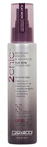 Giovanni 2Chic Brazilian Keratin & Argan Oil Flat Iron Styling Mist (Pack of 4)