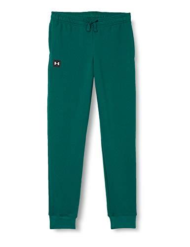 Under Armour Rival Pantalones de chándal de Forro Polar para niño, Not Applicable, Rival - Pantalones de chándal, Niños, Color Blanco Opaco (461), tamaño Extra-Large