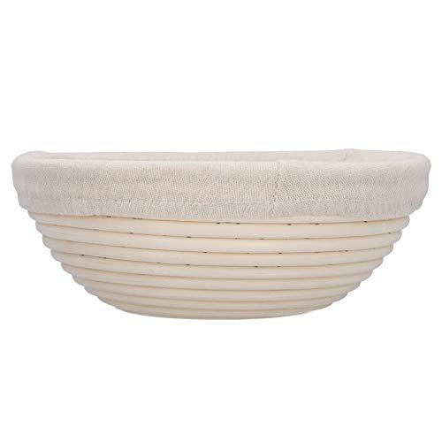 【𝐕𝐞𝐧𝐭𝐚 𝐏𝐫𝐢𝐦𝐚𝒗𝐞𝐫𝐚】 Cesta para Hornear, Resistente al Desgaste, Color Beige, Blanco, ecológica, para Pan, para panadería casera Accesorio de Cocina, 23 x 23 x 9 cm