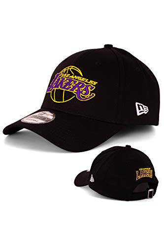 New Era Baseball Cap Basecap Herren Limited Edition mit Extra Team Stickerei auf Rückseite NFL, NBA, MLB Mütze 9Forty Snapback Yankees, Bulls, Dodgers, Lakers, Sox (LA Lakers Black V3)