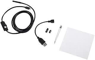 JohnJohnsen 6 LED 5.5mm Lente Endoscopio Boroscopio de inspecci/ón a Prueba de Agua para Android Focus Lente de la c/ámara Cable USB Endoscopio a Prueba de Agua Negro