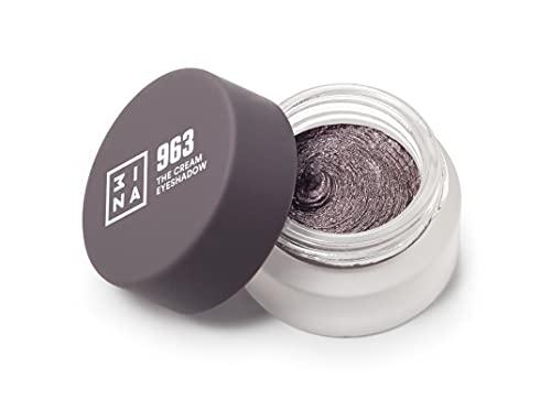 3ina Makeup - Trucco Cruelty Free - Vegan - The Cream Eyeshadow 963 - Grigio Talpa - Ombretto Crema Glitter A Lunga Duarata - Waterproof - 3 ml