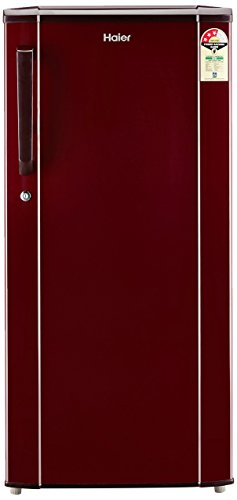 Haier 190 L 3 Star (2019) Direct Cool Single Door Refrigerator(HED-19TBR, Basic/Burgandy Red)