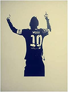 Personality Football Star Messi Poster Wall Stickers Decals Removable Dormitory Bedroom Home Wall Decals Art Decor
