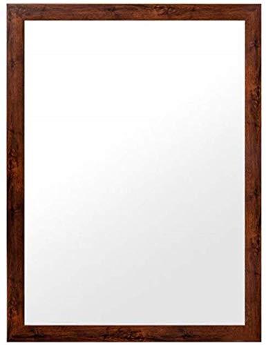 YYF Tragen Make-up-Spiegel European Style Paste Badezimmer Dresser Toilette Toilette WC Spiegel Wandbehang Einfach (Color : Red, Size : 60 * 80cm)