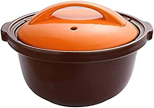 Clay Pot for Cooking Stew Pot Clay Cooking Pot Casserole Dishes - Open Flame, High Temperature Resistant, Large Capacity O...