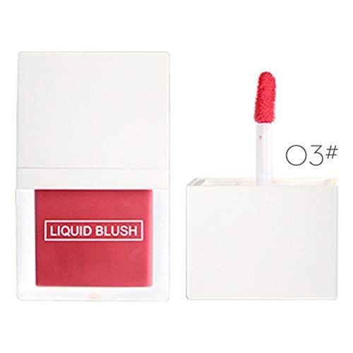 Allbestaye Liquid Blush Langlebige Face Contour Rouge Wasserfest Erhellen Sie den Hautton Langanhaltende Luminoso