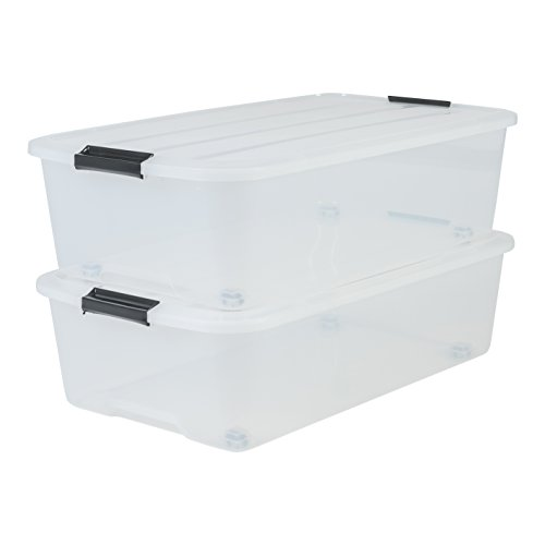 IRIS Set of 2 Under Bed Storage Boxes with Wheels