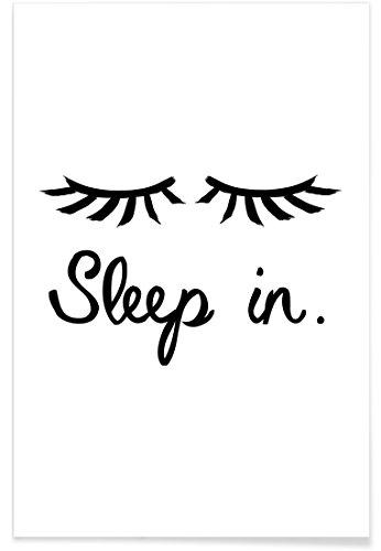 """JUNIQE Liebe & Romantik Typografie & Symbole Poster 20x30cm - Design """"Sleep In"""" entworfen"""