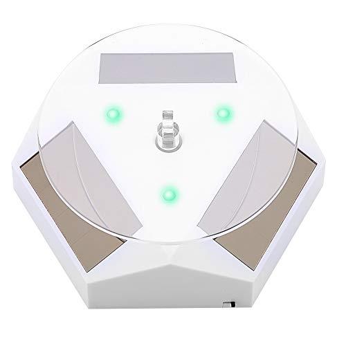 Sieraden Mount Houder, Zonne-energie Roterende Display Stand Automatische Revolving Platform voor Sieraden Horloge Mobiele telefoons Ring Display 白